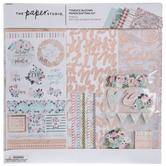 "Terrace Blooms Scrapbook Kit - 12"" x 12"""