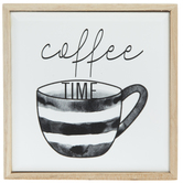 Coffee Time Wood Decor