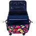 Floral On Navy Rolling Scrapbook Tote Bag