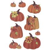 Orange Pumpkin Puffy Foil Stickers