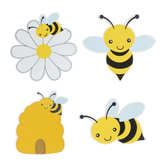 Bumble Bee Painted Wood Shapes