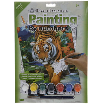 On The Prowl Tiger Paint By Number Kit