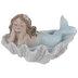 Blue & White Mermaid In Shell