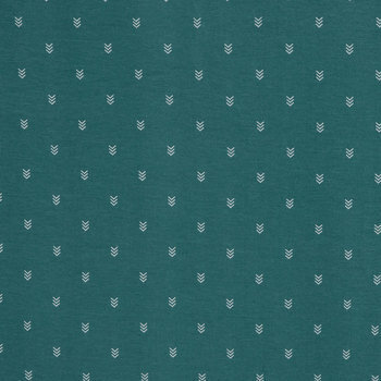 Jade Chevron Knit Fabric