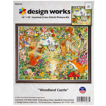 Woodland Castle Counted Cross Stitch Kit