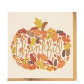 Thankful Fall Leaves Napkins - Large
