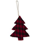 Red Buffalo Check Tree Ornament
