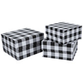 Buffalo Check Nested Square Box Set