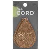 Imitation Corkwood Teardrop Pendants