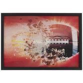 Fiery Football Lenticular Wall Decor