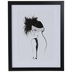 Black Feather Hat Framed Wood Wall Decor