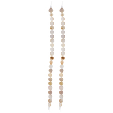 Beige Disc Shell Bead Strands