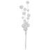 White Flocked Glitter Balls Pick