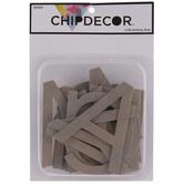 """Sans Serif Alphabet Chipboard Letters - 4"""""""