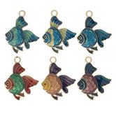 Enamel Fish Charms
