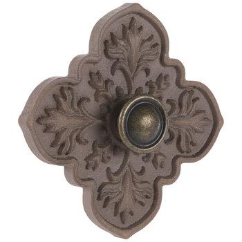 Mauve Flower Wood Wall Knob