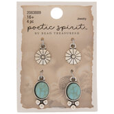 Concho & Imitation Turquoise Charms