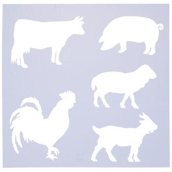 Farm Animal Stencil
