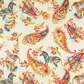 Paisley Jungle Duck Cloth Fabric