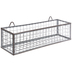 Rusty Galvanized Metal Wall Basket