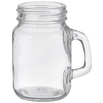 Glass Mason Jar With Handle