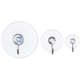 Assorted Suction Cups with Metal Hooks
