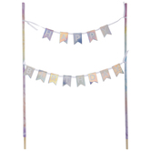Tie Dye Happy Birthday Cake Banner