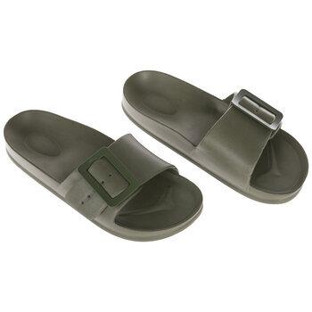 Green Buckle Foam Slide Sandals - Size 7
