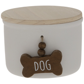 White Dog Bone Jar