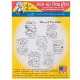Slice Of Pie Iron-On Transfers