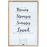 You're Braver Pooh Wood Wall Decor