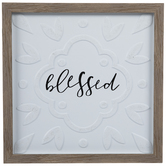 Blessed Framed Wood Wall Decor