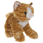 Orange & White Striped Kitten Plush