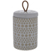 Beige & White Circles Canister - Large