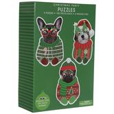 Christmas Wiggle Eye Dog Puzzles