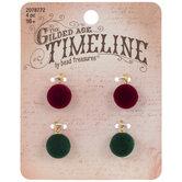 Red & Green Velvet Ball Charms