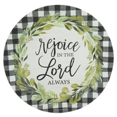 Rejoice Buffalo Check Paper Plates - Large
