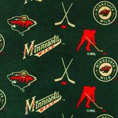 NHL Minnesota Wild Allover Fleece Fabric