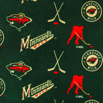 NHL Minnesota Wild Allover Fleece Fabric
