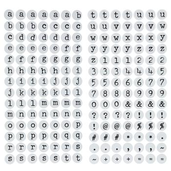 Round Yo-Yo Alphabet Stickers