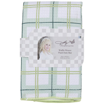 Dolly Parton Green Plaid Drying Mat
