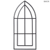 Black Cathedral Arch Metal Wall Decor
