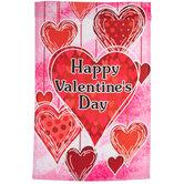 Happy Valentine's Day Garden Flag