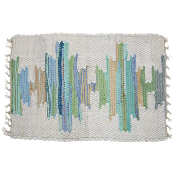 Green, Blue & Brown Chindi Placemat