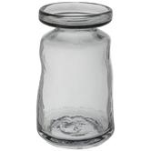 Gray Round Taper Glass Vase