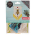 Bee Cross Stitch Wall Flag Kit