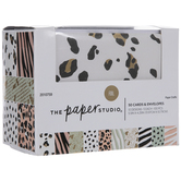 Gold Foil Animal Print Box Of Cards
