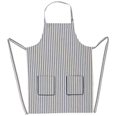 Ivory & Navy Ticking Striped Apron