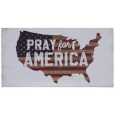 Pray For America Wood Decor