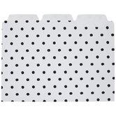 White & Black Polka Dot File Folders